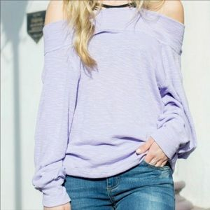 We The Free People Thermal Shoulder Lilac Dolman
